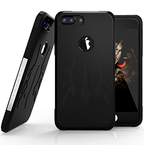 iPhone 7 Plus Case iPhone 8 Plus Case ADCOOG[KiKO] Dual Layer Hybrid Sturdy Anti-Shock Cover High Impact Resistant Protective Case for iPhone 7/8 Plus, Black