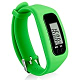Bomxy Fitness Tracker Watch, Simply Operation Walking Running Pedometer with calorie burning and steps counting by (Green)