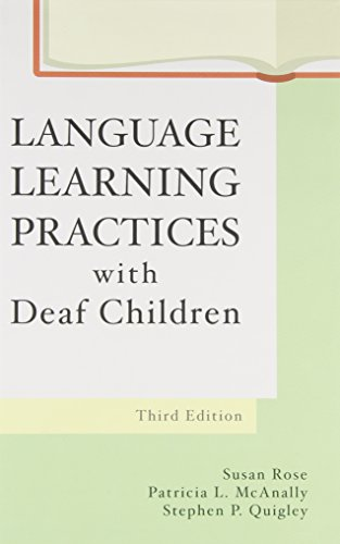 Language Learning Practices With Deaf Children by Brand: Pro ed