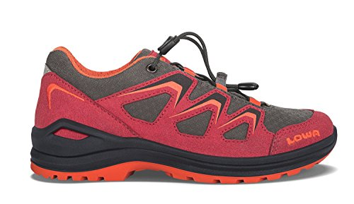 Lowa Innox Evo Gtx Lo Junior, Zapatos de Senderismo Unisex Niños rojo y naranja