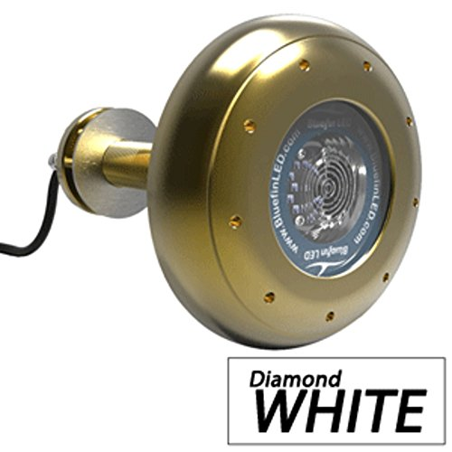 - Bluefin LED Stingray S16 Thru-Hull Underwater LED Light - 5600 Lumens - Diamond White Marine , Boating Equipment