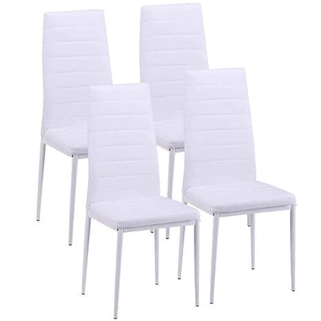 Amazon.com: Jielongtongxun - Juego de 4 sillas de comedor ...