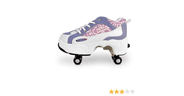 sleek best supplier release date: Amazon.com: 1999Gifts Roller Shoes Retractable 4 Wheels - Purple ...