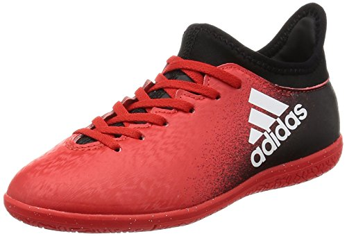 adidas X 16.3 In J, Botas de Fútbol para Niños red/ftwr white/core black