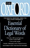 The Oxford Essential Dictionary of Legal Words, Oxford University Press Staff, 0425197069