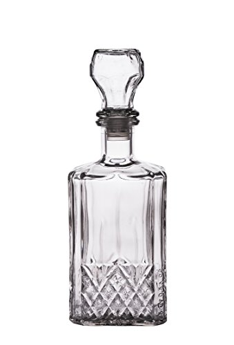 PrestoWare 5003, 0.5L/16.9-Ounce Old Fashioned Wine, Liquor and Whiskey Glass Decanter, Whiskey/Brandy Carafe with Glass Stopper