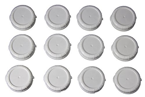 Replacement Bottle Caps for Libbey and Stanpac Milk Bottles 48 mm, ( 12 Pack ) ()