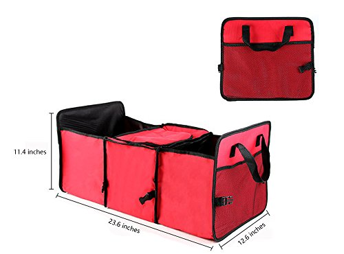 Car Trunk Organizer,Collapsible Auto Rear Cargo Storage Box for SUV, Car, Truck, Home etc ()