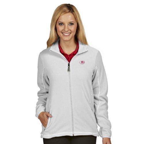 MLB Cincinnati Reds Women's Ice Jacket, White, Medium (Red Cincinnati Reds Jacket)