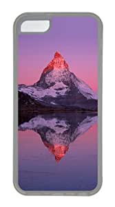 Customized Case Landscapes Matterhorn Transparent for Apple iPhone 5C