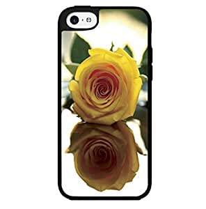 Pretty Yellow Rose Hard Snap on Phone Case (Case For Iphone 5C Cover)