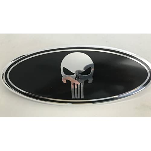 Low Cost Exotic Store Black Punisher Modified Emblem For Ford Explorer Edge F