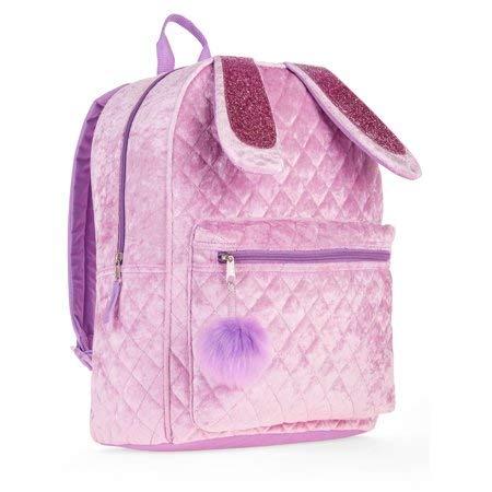 Bunny Quilted Velvet Critter Backpack ()