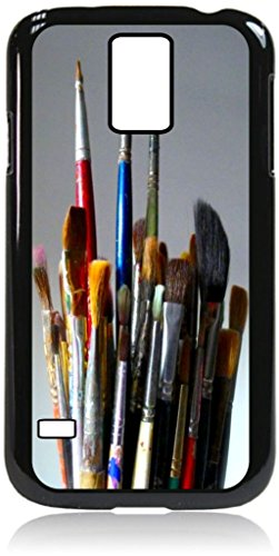 Artists Paint Brush Bouquet -TM Hard Black Plastic Case with Soft Black Rubber Lining for the Samsung Galaxy s5-Made in the USA!