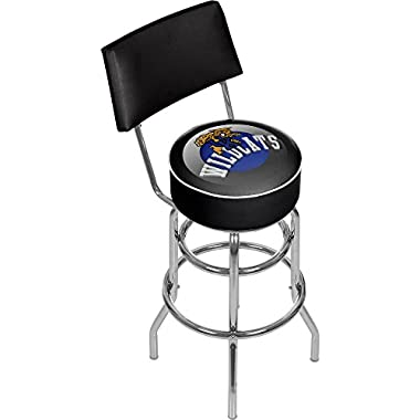 Trademark Gameroom University of Kentucky Wildcats Swivel Bar Stool with Back - Honeycomb