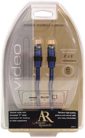Acoustic Research AP012N Video F to F Coaxial Cable Discontinued by Manufacturer 12 feet