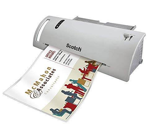 Scotch Thermal Laminator Combo Pack, Includes 20 Letter-Size Laminating Pouches, Holds Sheets up to 8.5