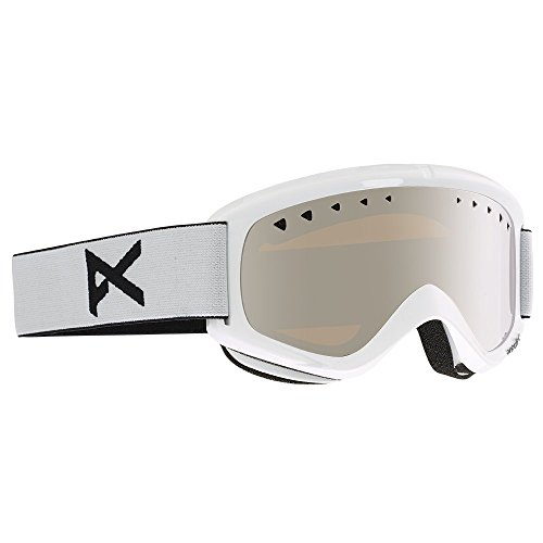 Anon Helix 2.0 Goggles with Spare Lens, White Frame, Silver Amber Lens, One - Goggles Ski Anon