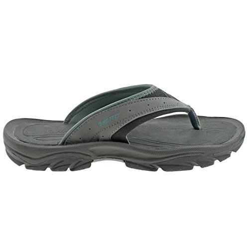 Hi-Tec Ladies Tobago Toe Post Grey/Graphite/Blue Sandals -UK 5 (EU 38)