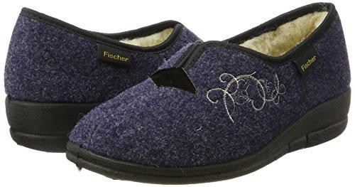Fischer Pantofole Blu 555 Donna blau Dora r5qng6Px4r