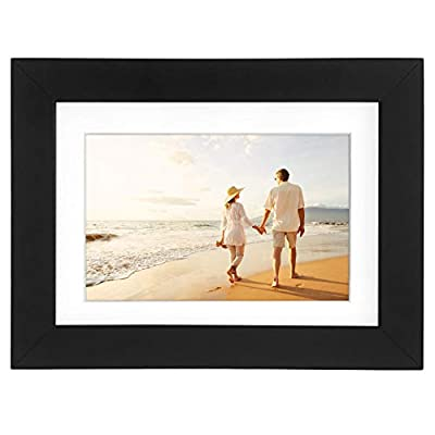 Americanflat 2 Pack - 5x7 Tabletop Frames - Display Pictures 4x6 with Mat - Display Pictures 5x7 Without Mat - Glass Fronts, Easel Stands, Ready to Display on Tabletop