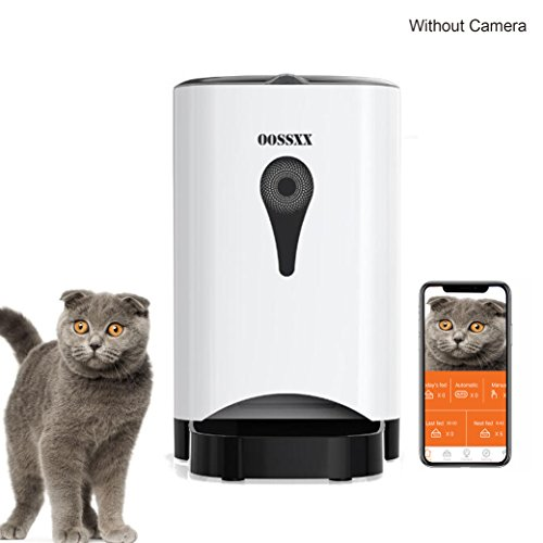 OOSSXX SmartFeeder, Automatic Pet Feeder for small Dog or Cat,Remote by Iphone,Andriod or schedule Feeder