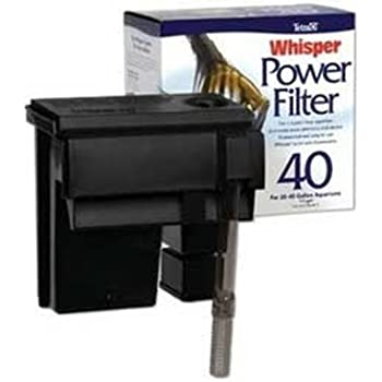 Tetra Whisper Power Filter for Aquariums, 3 Filters in 1, Up to 40-Gallons