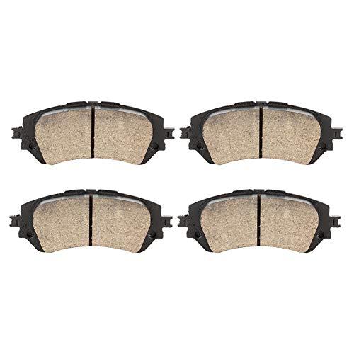 Akozon Front Brake Pads, D2343 2Pcs Car Auto Ceramic Front Disc Brake Pads Fit for Yaris (2013~) Vios (2013~):