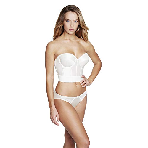 Dominique Noemi Strapless Longline Bra, 38B, Ivory from Dominique