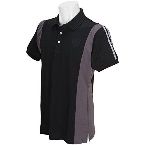セント?アンドリュース St ANDREWS 半袖シャツ?ポロシャツ 半回縞半袖ポロシャツ ブラック 010 3L