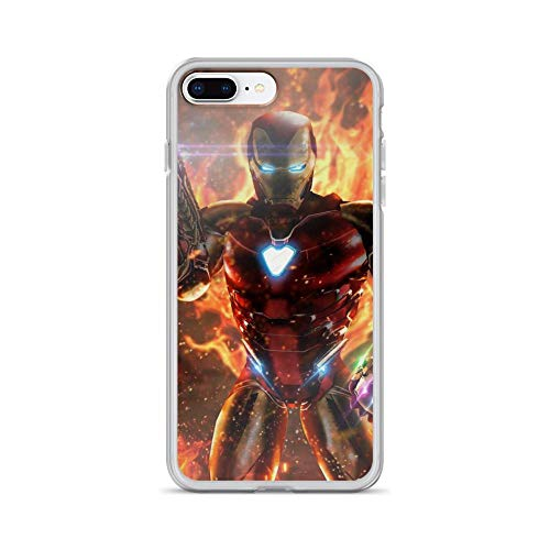 iPhone 7 Plus/8 Plus Pure Anti-Shock Case Iron-Man Infinity Stone Weapon Tony-Stark Stan Lee Avengerss Movie Shield Comic Superhero -