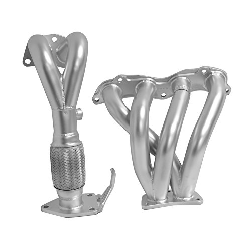 Piece Ceramic Header (DC Sports AHC6016 Acura TSX Silver 4-2-1 Header with Ceramic Coating - 2 Piece)
