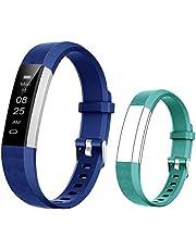 BIGGERFIVE Fitness Tracker Horloge voor kinderen jongens meisjes tieners, stappenteller, activiteitentracker, slaapmonitor, calorieteller, trillende wekker, IP67 waterdicht stappenteller horloge