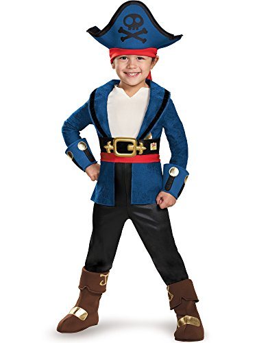 Disney Jake and the Neverland Pirates Captain Jake Deluxe Toddler Large 4-6