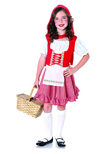Leg Avenue Costumes 2Pc.Lil Miss Red Peasant Apron Dress and Matching Cape, Small ()