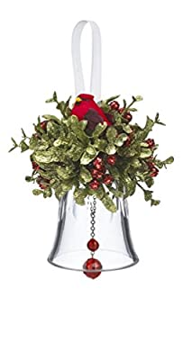 "GANZ 5.5"" Krystal Kiss Ball Ornament, Cardinal Bell - Wedding Acrylic Kissing Crystal-like KK214"