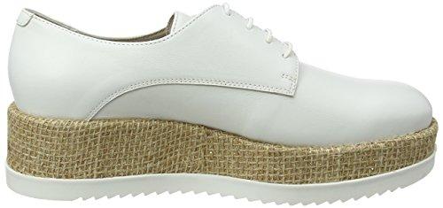 Derby Disco BLU de Cordones Bianco Mujer Zapatos Blanco Tosca C00 para R4qBwFw