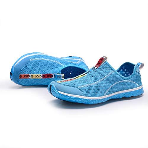 Sandali Maglia Sneakers Spiaggia Fashion Traspirante Unisex Casual Qianliuk Blu Scarpe Uomini Fq1n6