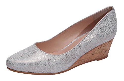 Marion Spath Damen 361-569 Glattleder Eleganter Keilballerina weiß Effektgeprägt