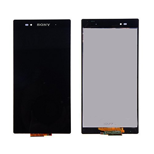 E-League(TM)Grade A+ Sony Xperia Z Ultra XL39h LCD,Black LCD Display Touch Digitizer Screen Assembly Replacement for Sony Xperia Z Ultra XL39h C6802 C6806 6.44 inch with Tool+Tempered Glass