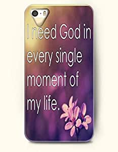 For Ipod Touch 4 Phone Case Cover Hard with Design I Need God In Every Single Moment Of My Life.- Pious Monologue - For Ipod Touch 4 Phone Case Cover
