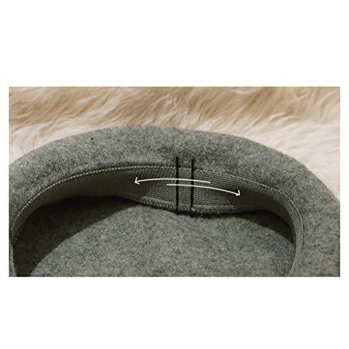E Lq Boina Sombrero Señoras negro Beige Otoño Inglaterra beige Retro Invierno wSBx1PqS6