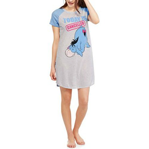 Disney Womens Eeyore From Winnie The Pooh Scoop Neck Sleep Shirt (S/M (6-10)) - Kanga Winnie The Pooh Costume
