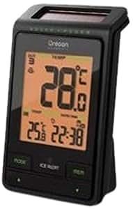 Oregon Scientific RMR-802 - Termómetro solar, temperatura interior/exterior, incluye sensor, color negro