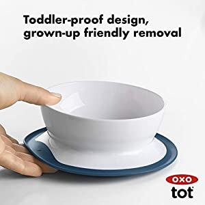 OXO Tot Stick & Stay Suction Bowl, Navy