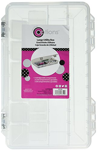 Creative Options 2-3750-65 Pro-Latch Utility Organizer with 3 to 28 Adjustable Compartments, Large