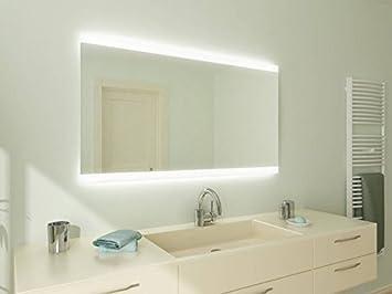 Luanda21 Badspiegel mit Beleuchtung: Design Spiegel für Badezimmer ...