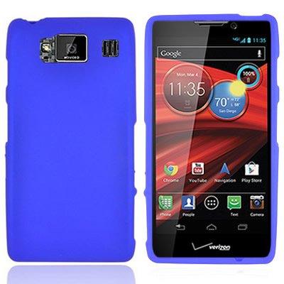 (Droid Razr HD Case, CoverON [Snap Fit Series] Slim Rubberized Hard Plastic Shield Phone Cover Case for Motorola Droid Razr HD/Droid Fighter - Blue )
