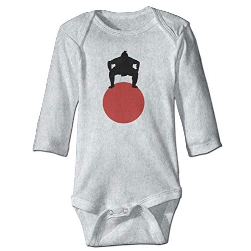 SHUNLEI Sumo Wrestling Baby Boys' Cotton Long-Sleeve Bodysuits