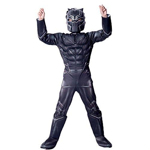 KN Halloween Black Panther Child's Costume Avengers Masquerade Halloween Costume -